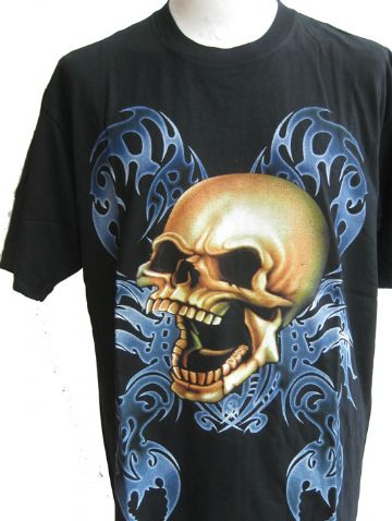 The Laughing Skull T Shirt With Large Back Print
